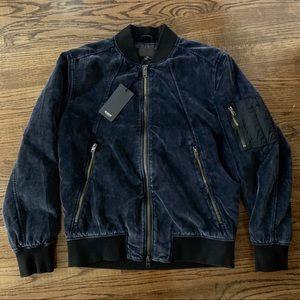 Hudson Velvet Bomber Jacket, Graphite